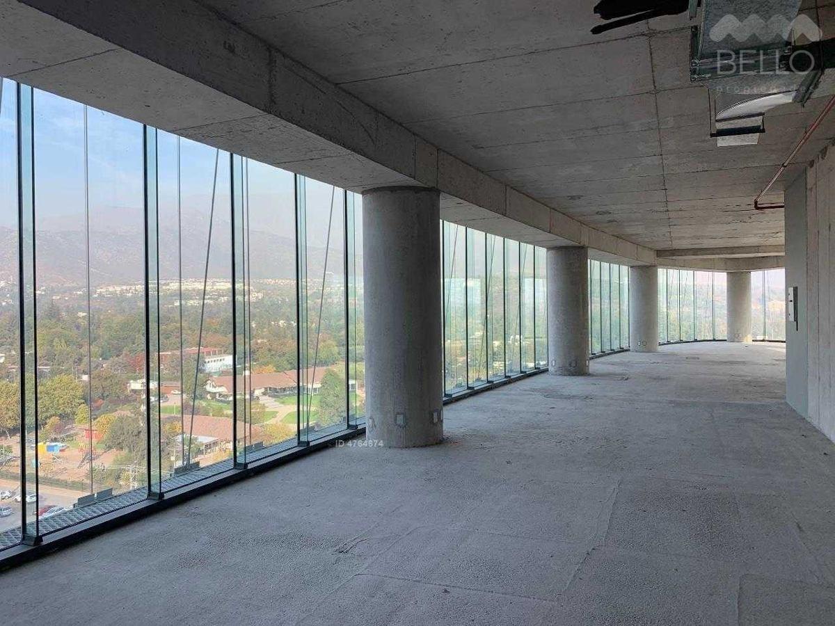 Arriendo oficinas 203 a 997 m2 a 0,42 UF/m2 Edif. Indumotora Las Condes
